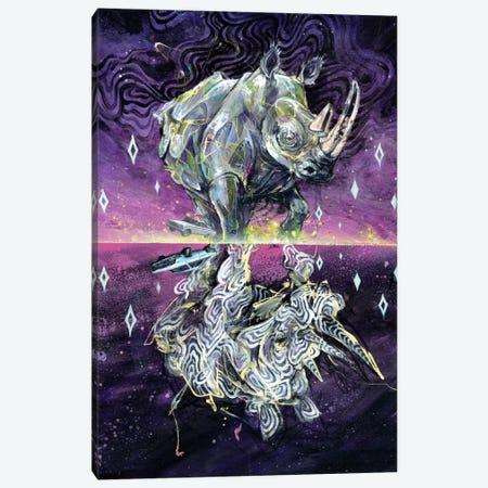 Albino Rhino Canvas Print #BKT30} by Black Ink Art Art Print