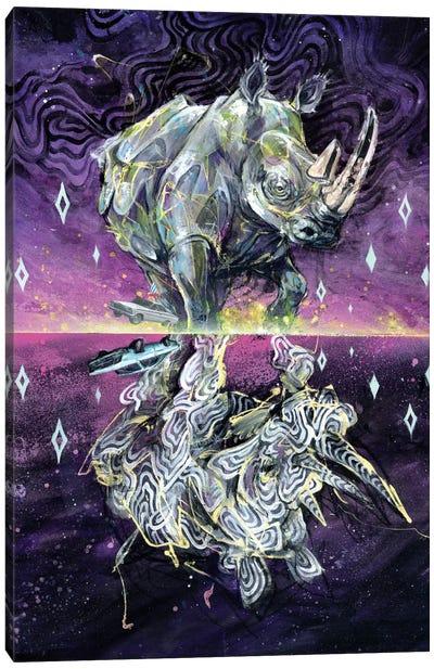 Albino Rhino Canvas Art Print