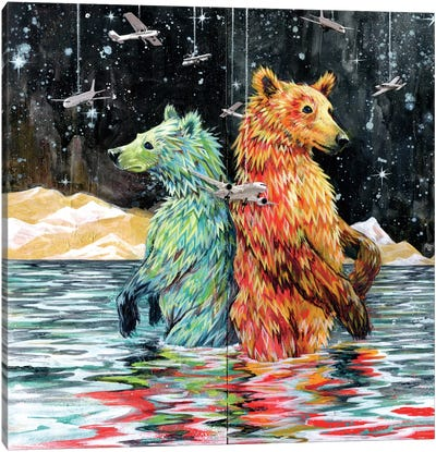 Bear Back Canvas Art Print