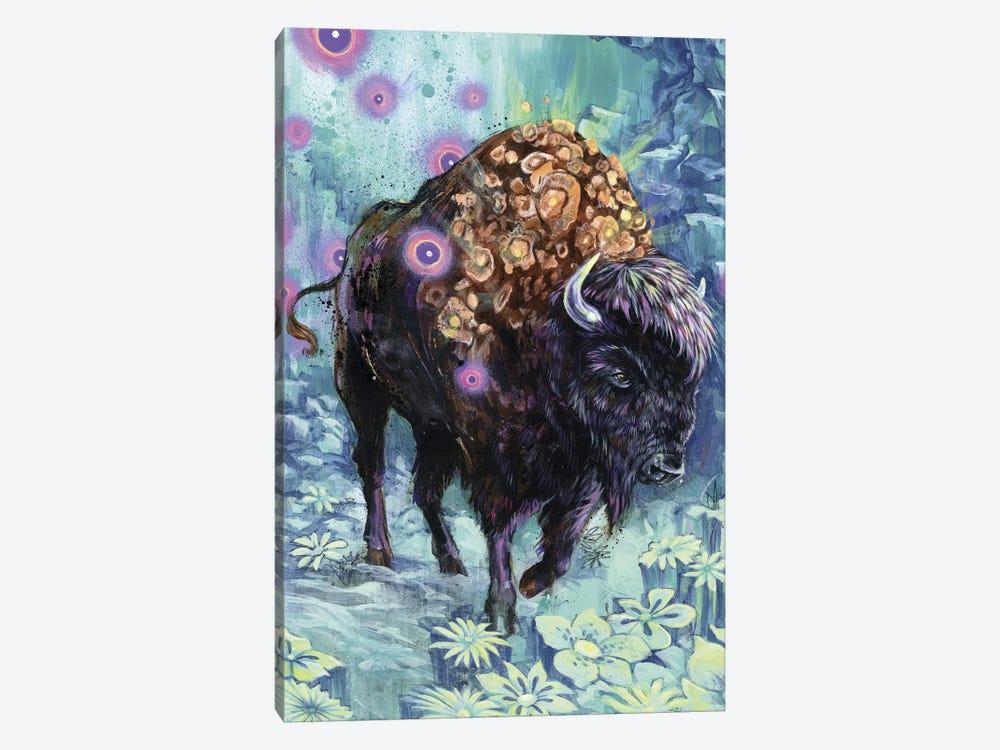 Buffalo Bloom by Black Ink Art 1-piece Canvas Artwork