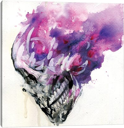 Purple Skull Canvas Art Print