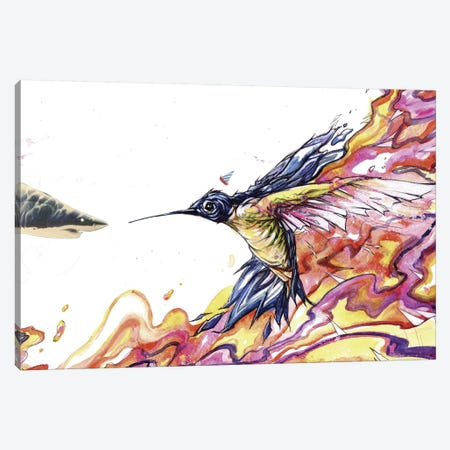 Distance Runner Canvas Print #BKT44} by Black Ink Art Canvas Print