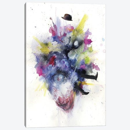 Ego Death Canvas Print #BKT47} by Black Ink Art Canvas Art Print