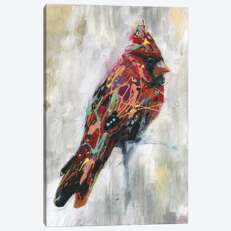 Ezra's Feathers Canvas Print #BKT48} by Black Ink Art Canvas Artwork