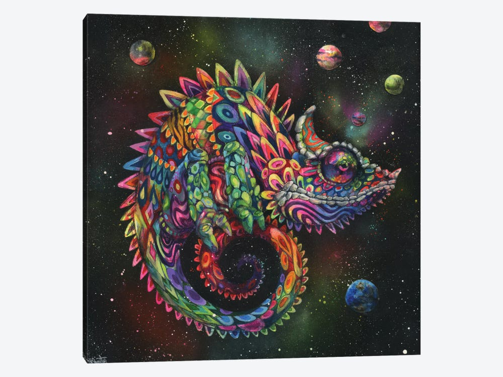 Rainbow Herbert by Black Ink Art 1-piece Canvas Art