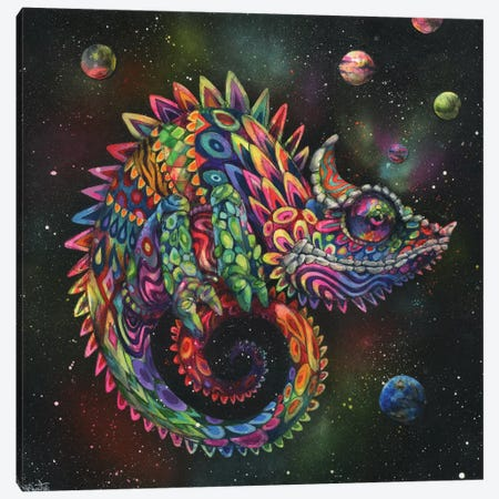 Rainbow Herbert Canvas Print #BKT4} by Black Ink Art Canvas Print