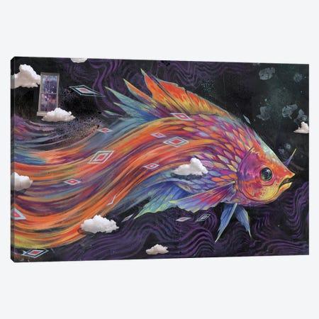Follow Your Flow Canvas Print #BKT50} by Black Ink Art Art Print