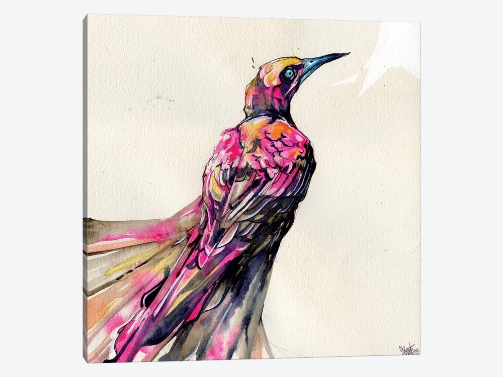 Grackle I by Black Ink Art 1-piece Canvas Art Print
