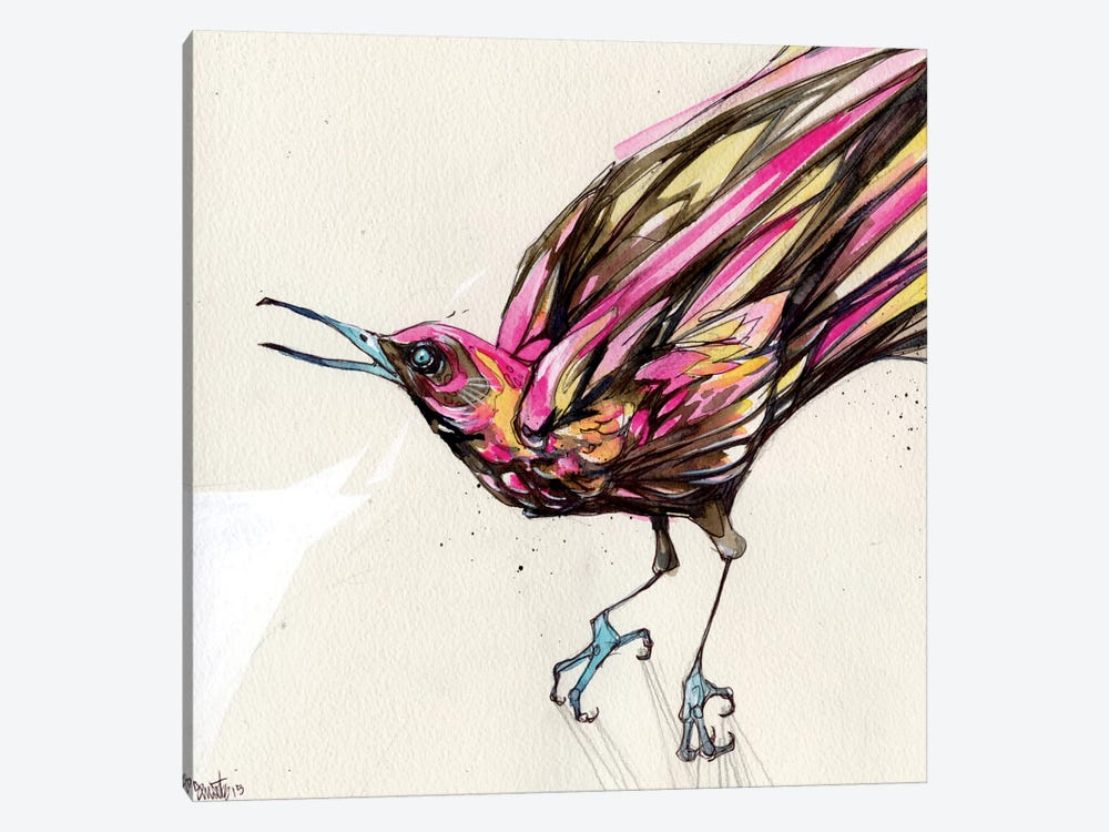 Grackle II by Black Ink Art 1-piece Canvas Artwork