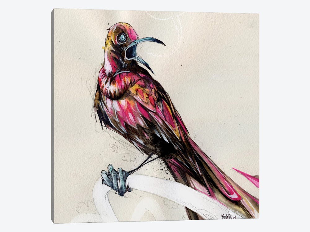 Grackle III by Black Ink Art 1-piece Canvas Print