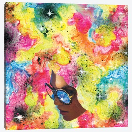 Rainbow Piff Canvas Print #BKT5} by Black Ink Art Canvas Print
