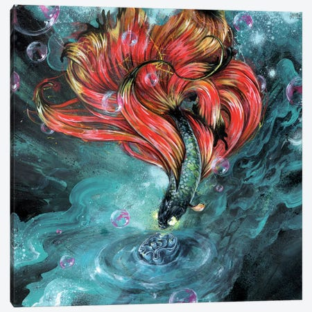 Organic Invasion Canvas Print #BKT62} by Black Ink Art Canvas Wall Art
