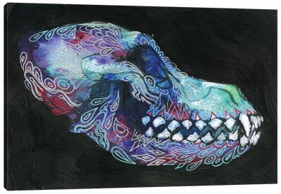 Dog Skull Canvas Art Print