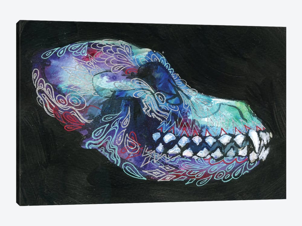 Dog Skull by Black Ink Art 1-piece Canvas Art Print