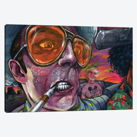 Fear n' Loathing Canvas Print #BKT68} by Black Ink Art Canvas Artwork