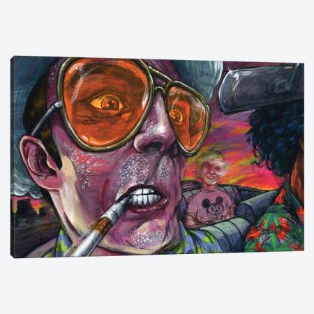 Fear n' Loathing Canvas Print #BKT68} by Black Ink Art Canvas Artwork