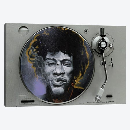 Jimi Canvas Print #BKT72} by Black Ink Art Art Print