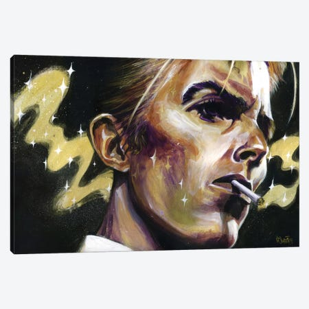 The Disco King Canvas Print #BKT79} by Black Ink Art Canvas Print