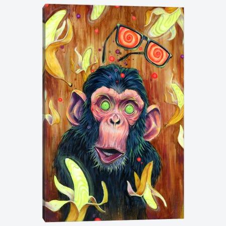 Banana Land Canvas Print #BKT82} by Black Ink Art Canvas Art