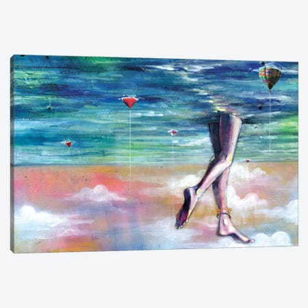 Cloud Walk Canvas Print #BKT86} by Black Ink Art Canvas Print
