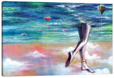 Cloud Walk Canvas Art Print