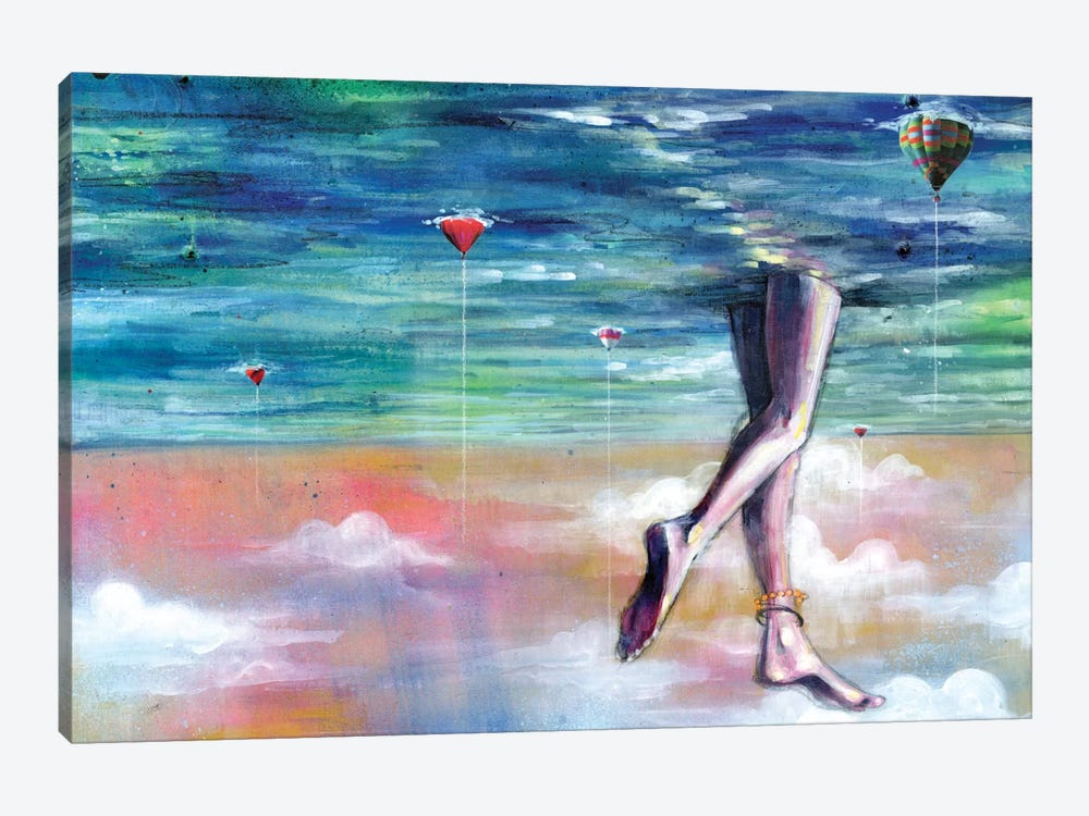 Cloud Walk by Black Ink Art 1-piece Canvas Art Print