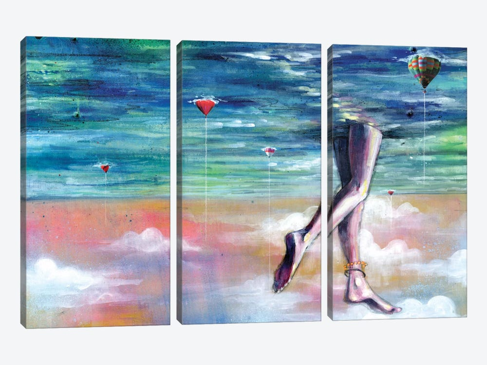 Cloud Walk by Black Ink Art 3-piece Canvas Art Print