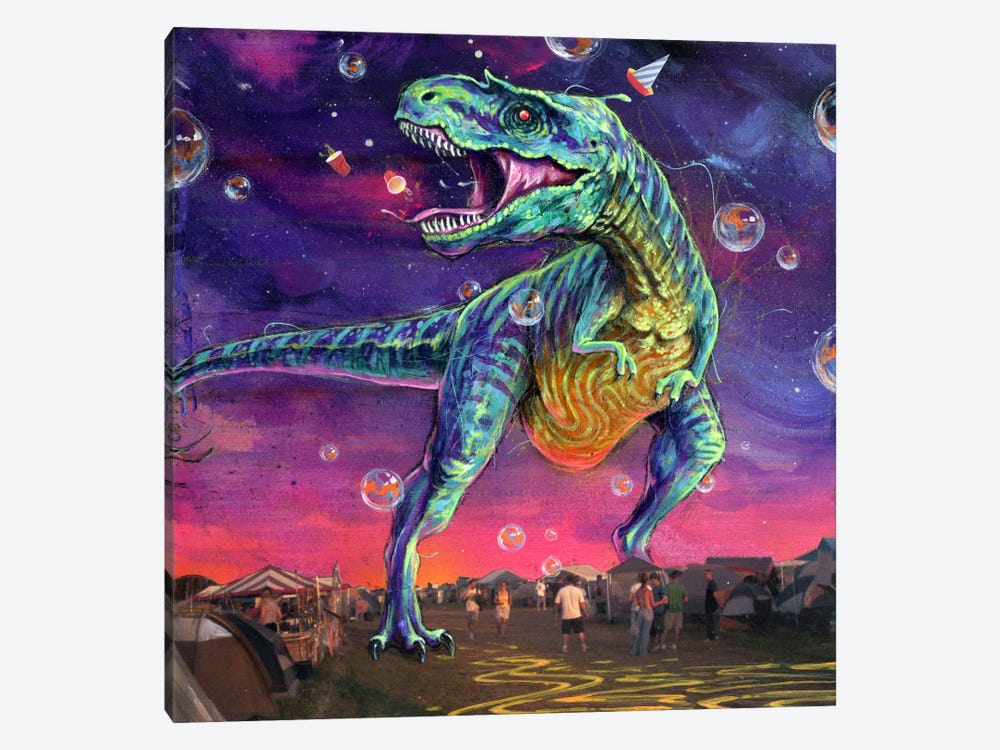 Festasaurus Rex by Black Ink Art 1-piece Canvas Art Print
