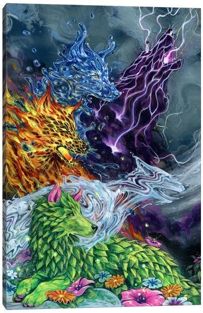 Howlin' Electric Lemonade Canvas Print #BKT96