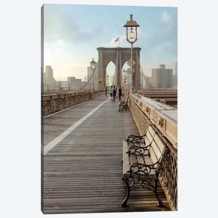 Brooklyn Bridge Walkway II Canvas Print #BLA10} by Alan Blaustein Canvas Art Print