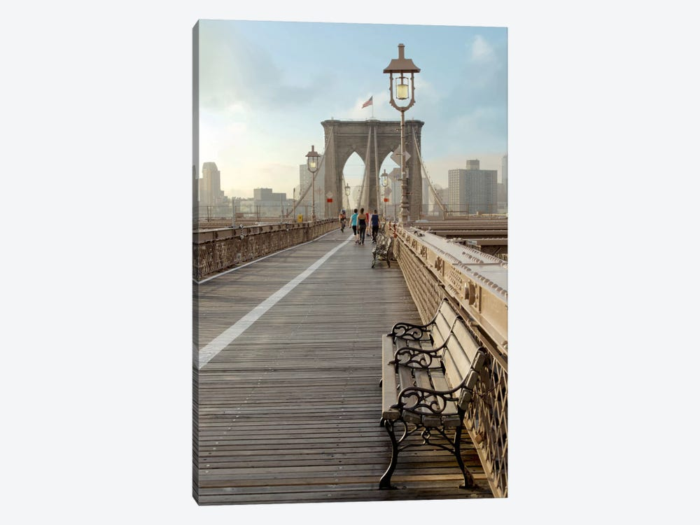 Brooklyn Bridge Walkway II by Alan Blaustein 1-piece Art Print
