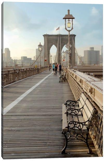Brooklyn Bridge Walkway II Canvas Art Print