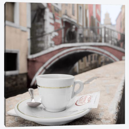 Canal Espresso At Bar Guiseppi Canvas Print #BLA13} by Alan Blaustein Canvas Print