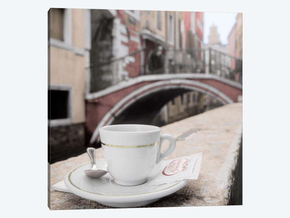 Canal Espresso At Bar Guiseppi by Alan Blaustein 1-piece Canvas Artwork