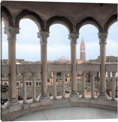 Arches With Campanile VIsta Canvas Art Print