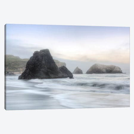 Crescent Beach Waves I Canvas Print #BLA34} by Alan Blaustein Canvas Art