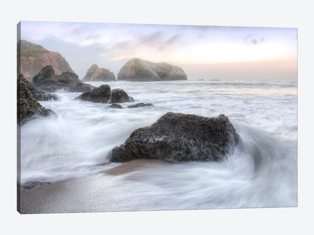 Crescent Beach Waves II by Alan Blaustein 1-piece Canvas Wall Art