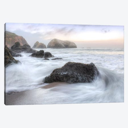 Crescent Beach Waves II 3-Piece Canvas #BLA35} by Alan Blaustein Canvas Art