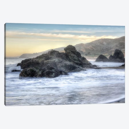 Crescent Beach Waves IV Canvas Print #BLA37} by Alan Blaustein Canvas Wall Art