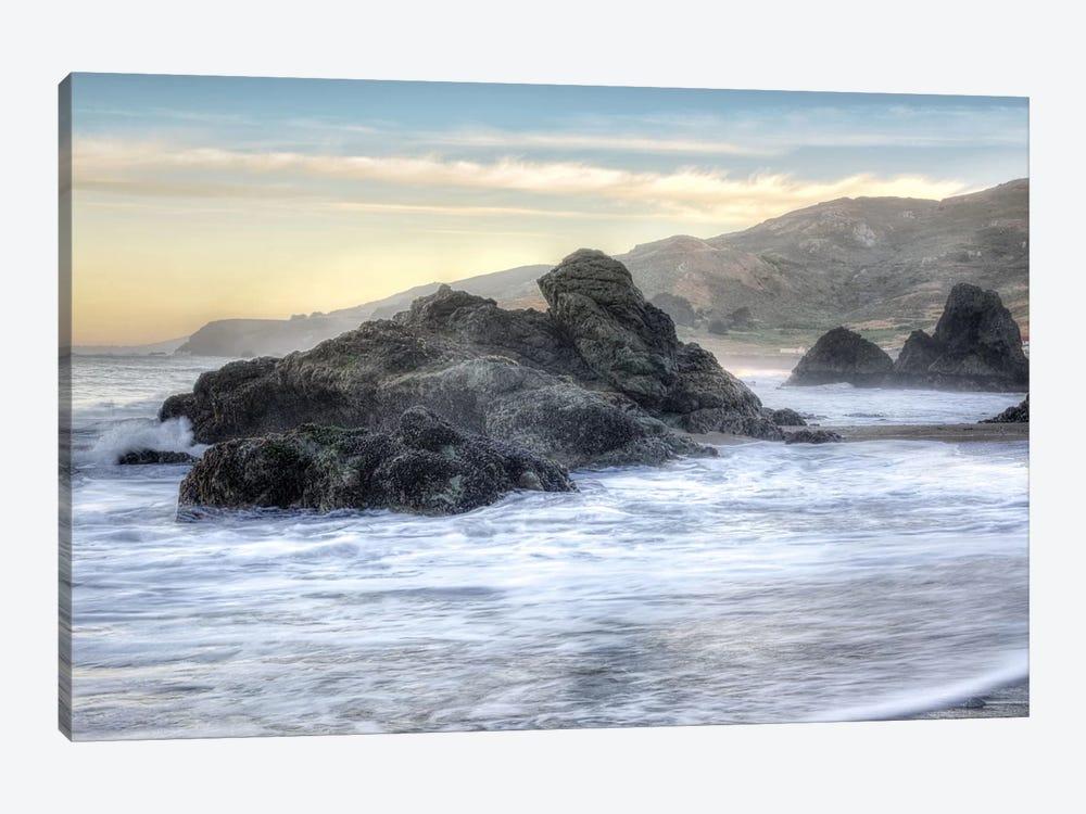 Crescent Beach Waves IV by Alan Blaustein 1-piece Canvas Artwork