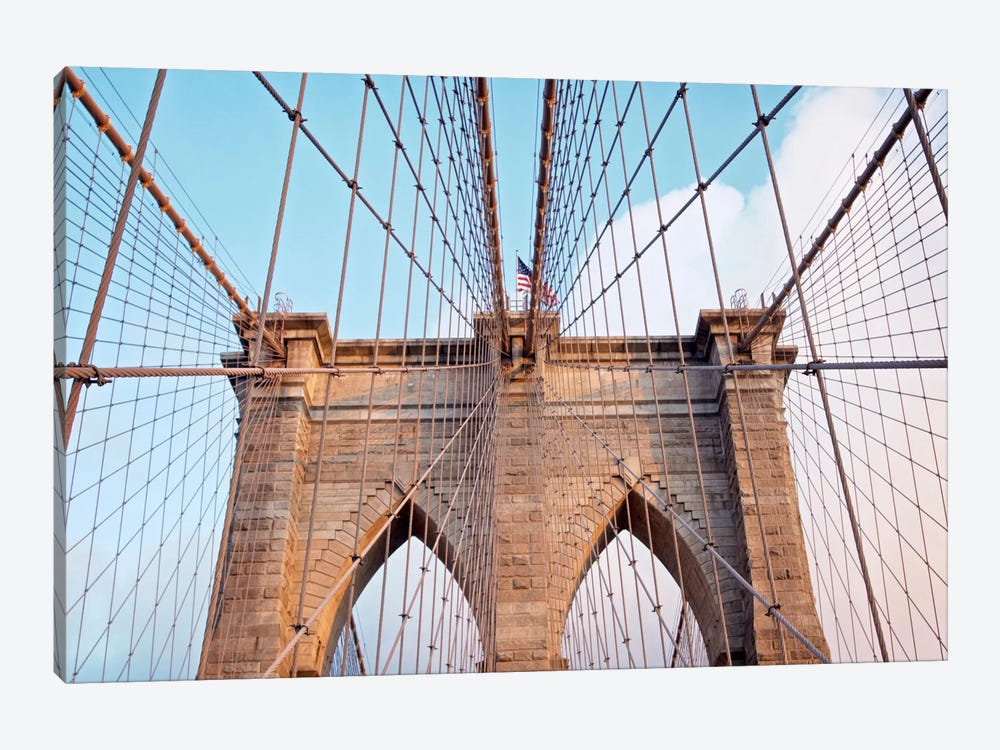 Brooklyn Bridge II by Alan Blaustein 1-piece Canvas Print