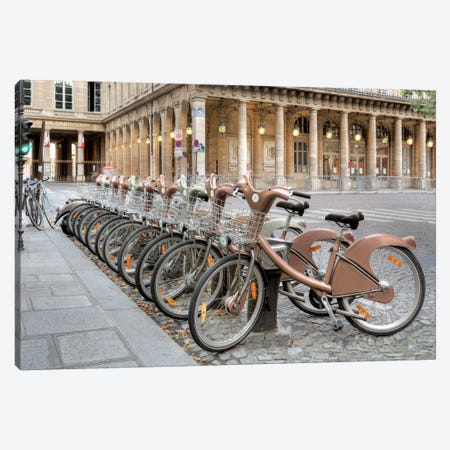Paris Cycles I Canvas Print #BLA46} by Alan Blaustein Canvas Art Print