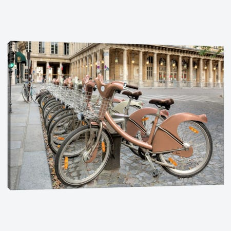 Paris Cycles II Canvas Print #BLA47} by Alan Blaustein Canvas Print