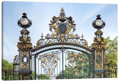 Park Monceau Gates Canvas Print #BLA48