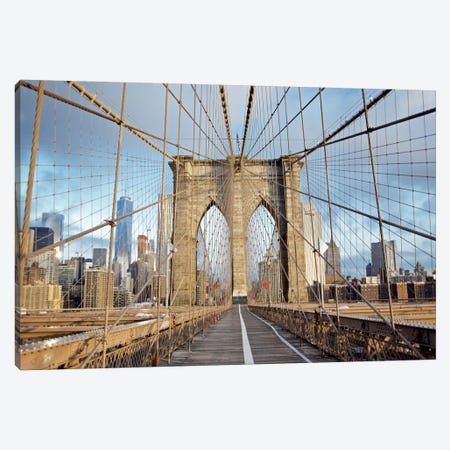 Brooklyn Bridge III Canvas Print #BLA4} by Alan Blaustein Canvas Art