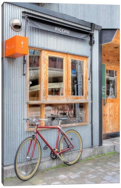Red Bicycle, Japan Canvas Art Print