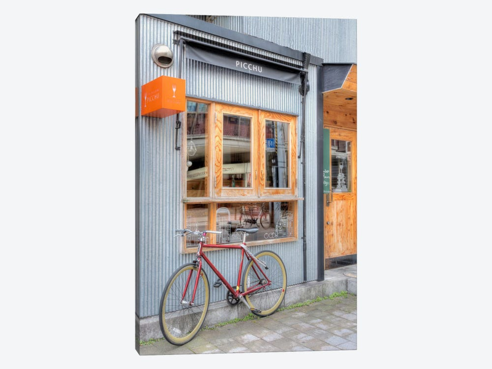 Red Bicycle, Japan by Alan Blaustein 1-piece Canvas Art Print