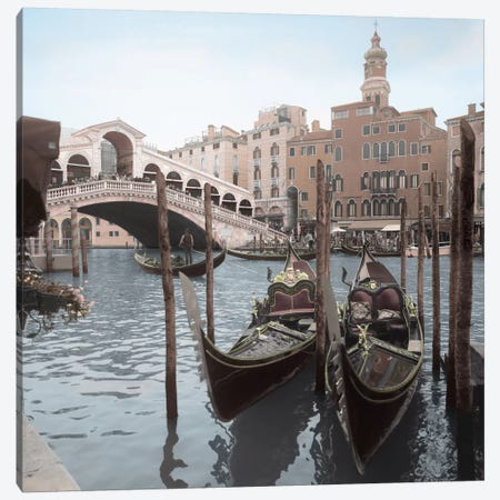 Rialto Bridge Gondolas Canvas Print #BLA53} by Alan Blaustein Art Print
