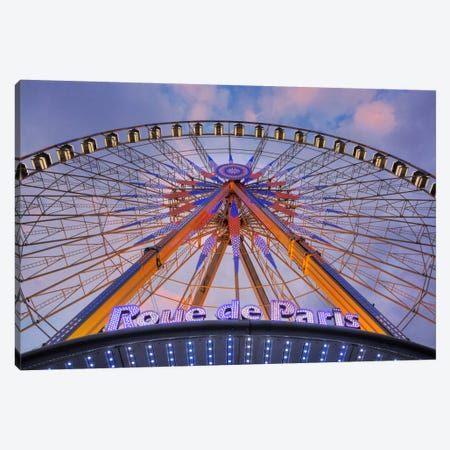 Roue de Paris Canvas Print #BLA54} by Alan Blaustein Canvas Artwork