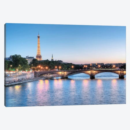 Twilight On The Seine Canvas Print #BLA56} by Alan Blaustein Canvas Art
